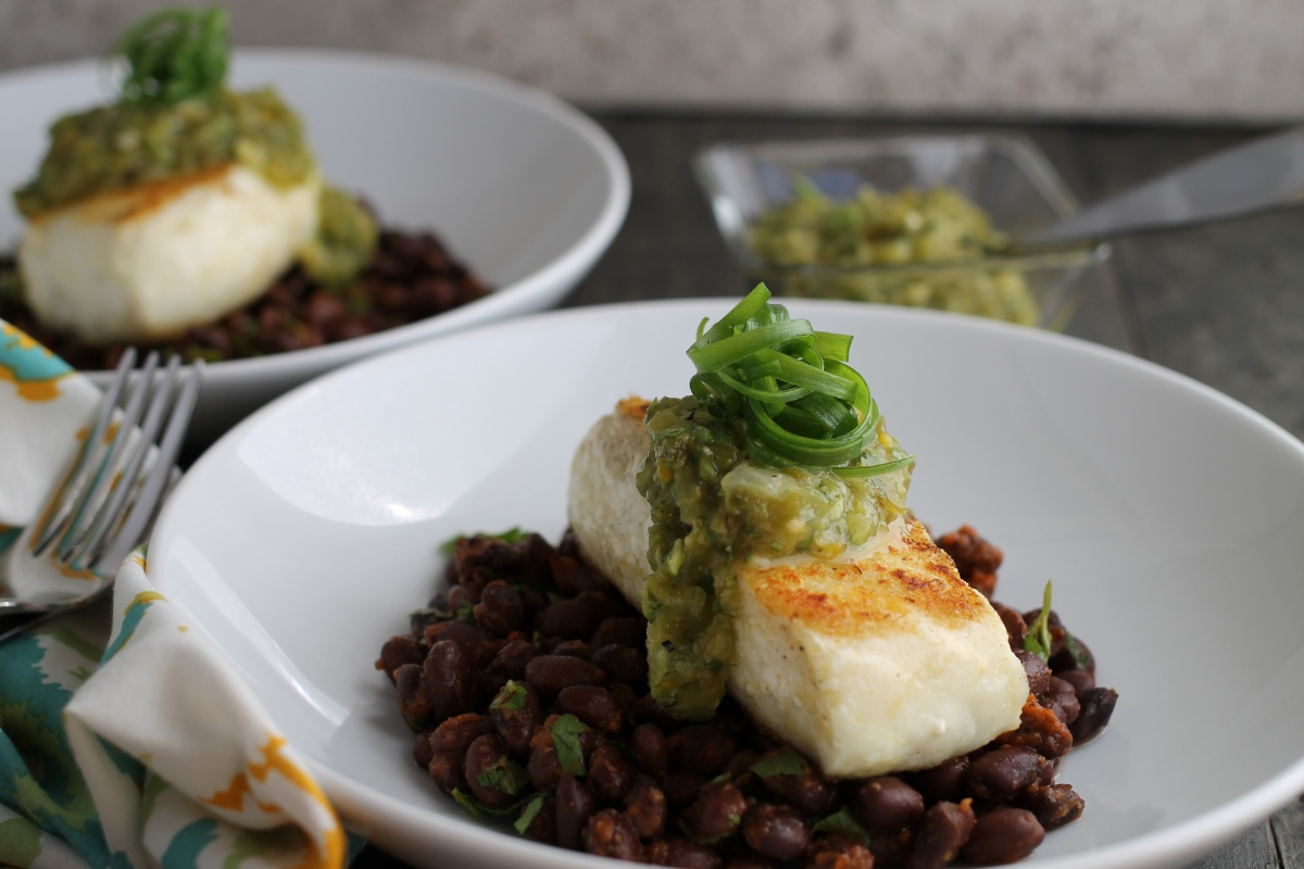 Green Olive Salsa Verde With Cilantro Lime Grilled Halibut ...